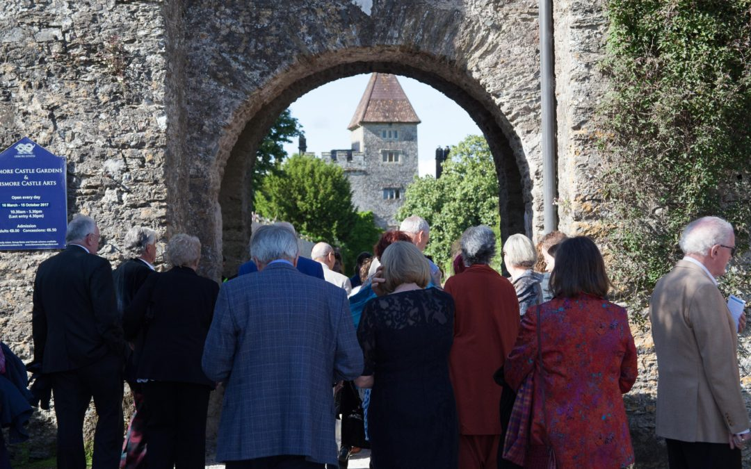 Group standing at the gates to Lismore Castle Arts