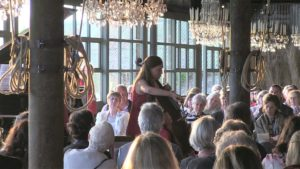 Cello Recital with chandeliers