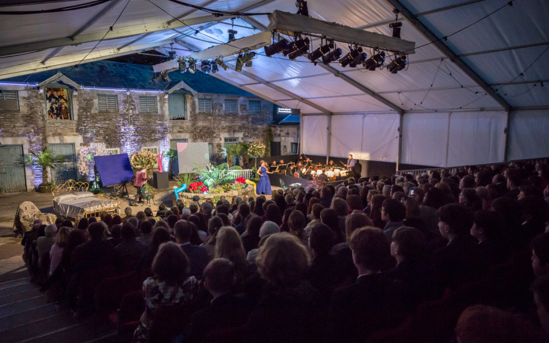 Audience watching opera at the 2019 Blackwater Valley Opera Festival